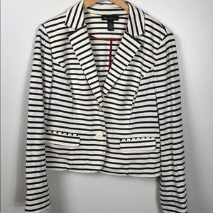 INC International Concepts Nautical Stripe Jacket